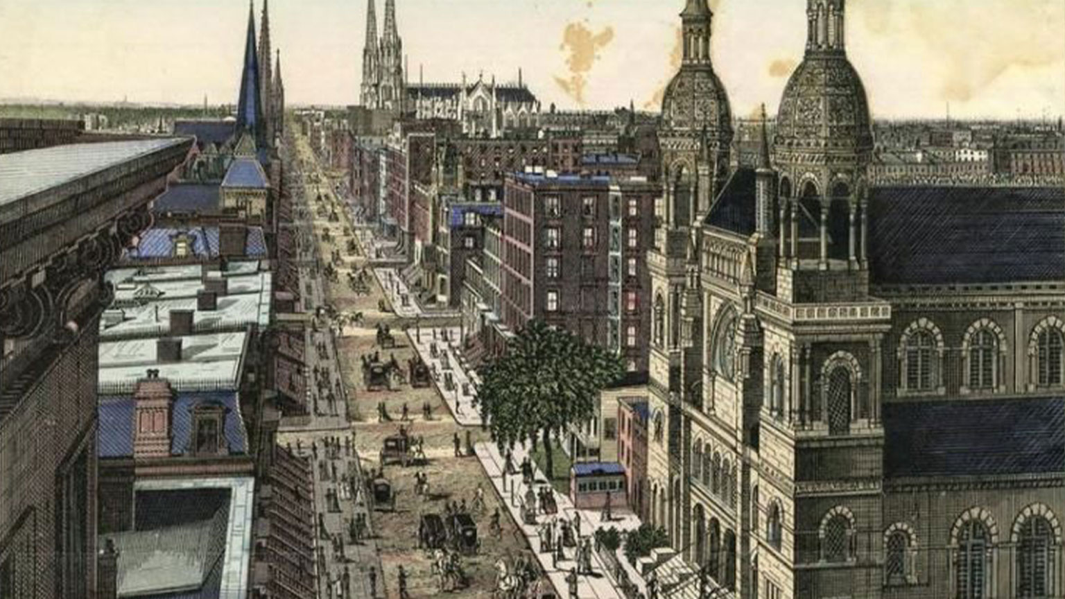 This is what New York City would have looked like while the Gormans were living there.