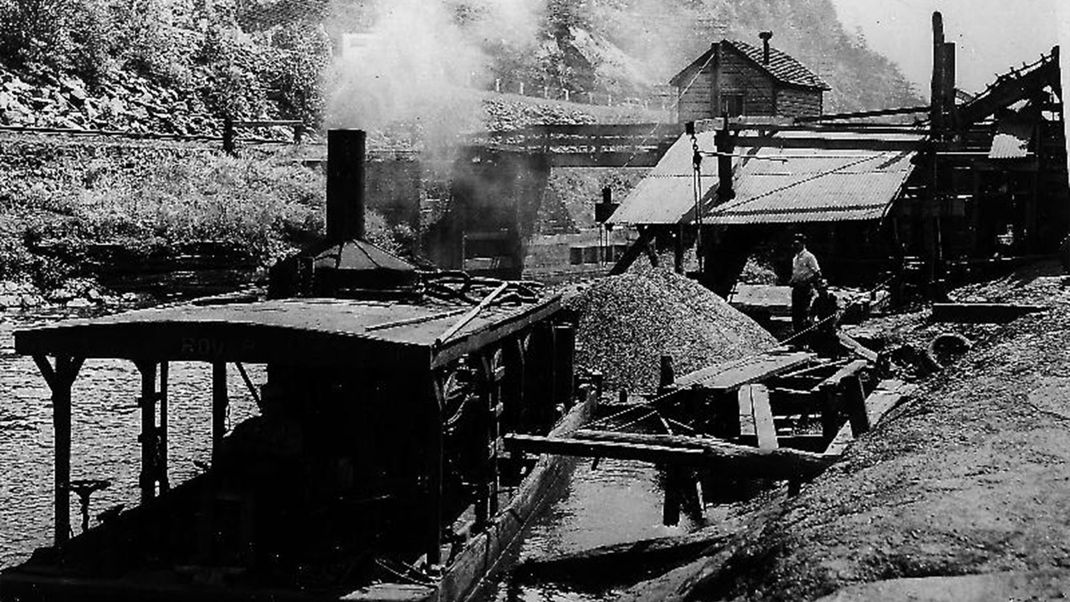 This was part of the process the coal went through as it made its way from the coal mines into people's houses.