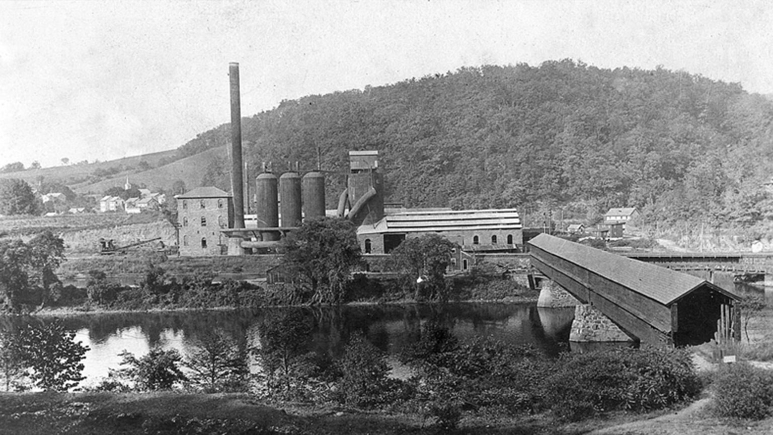 This is one of the factories that took iron ore and turned it into iron.