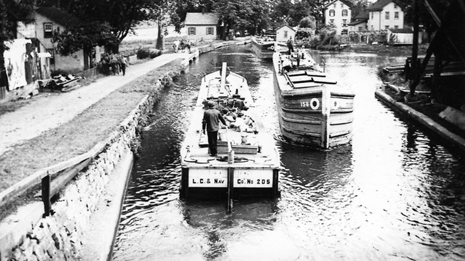 This is what Finn and his family would have seen as they first caught a glimpse of the canal system they would eventually call their work home.