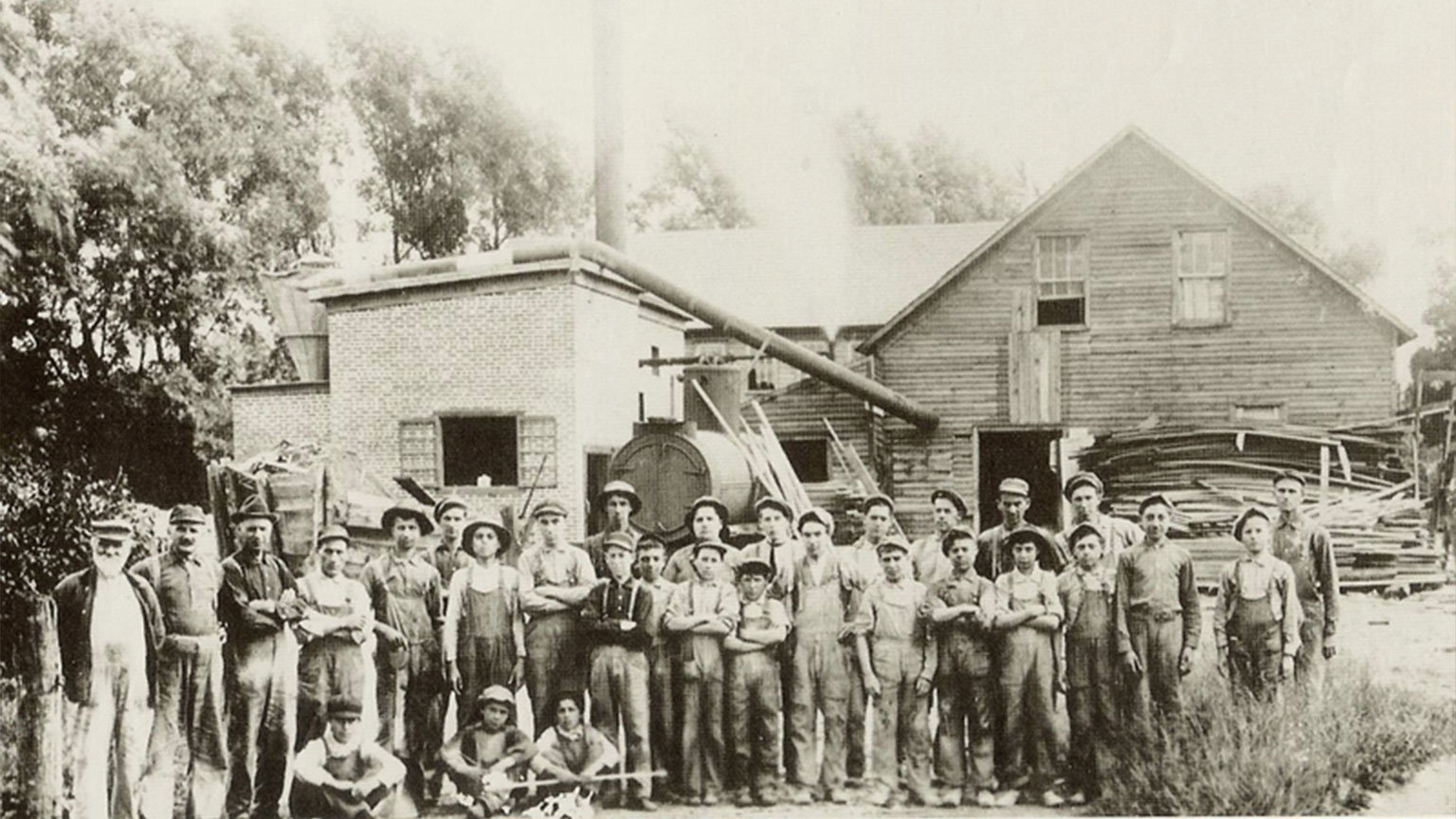 Men and boys that worked at the Flicksville Slate Factory. Slate was used for much more than slate boards and chalkboards.