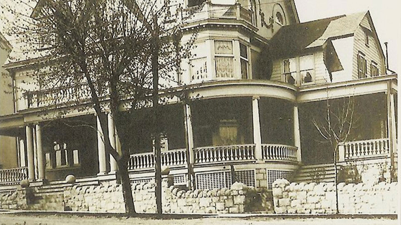 While the Gormans were not wealthy people there were many who were.  This beautiful house was built by John Knecht and was stately for its time and now.