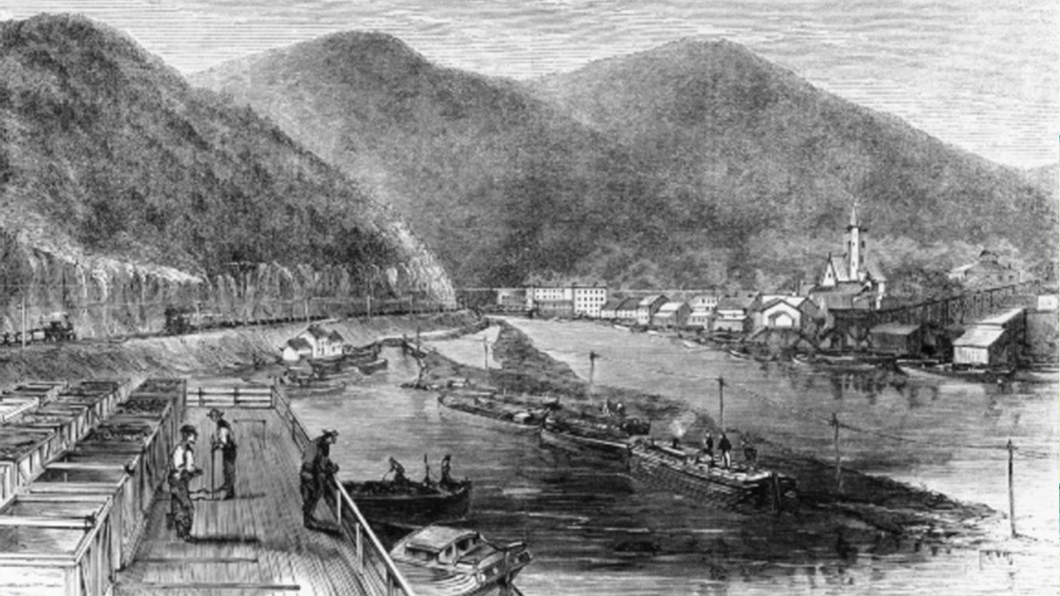 Mauch Chunk 1830s.
