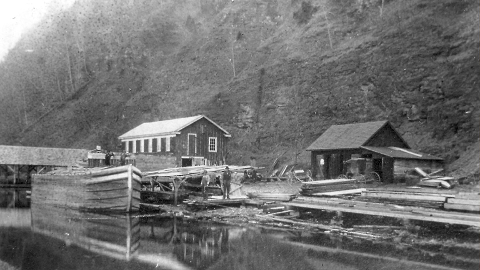 Although this is not the boatyard Mr. Gorman would have worked at it is a good example of what his probably looked like.