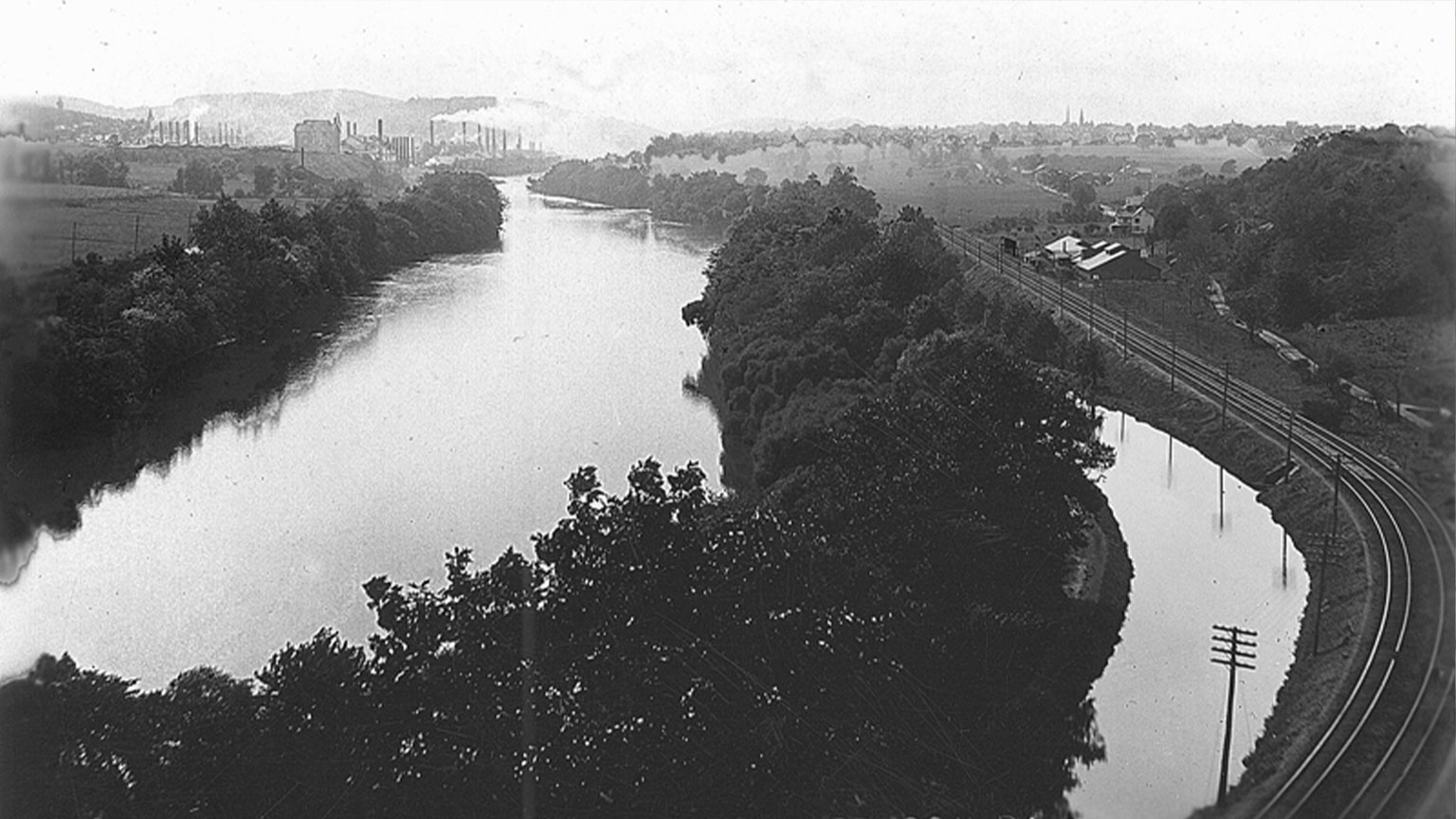 View of canal and river from Freemansburg.