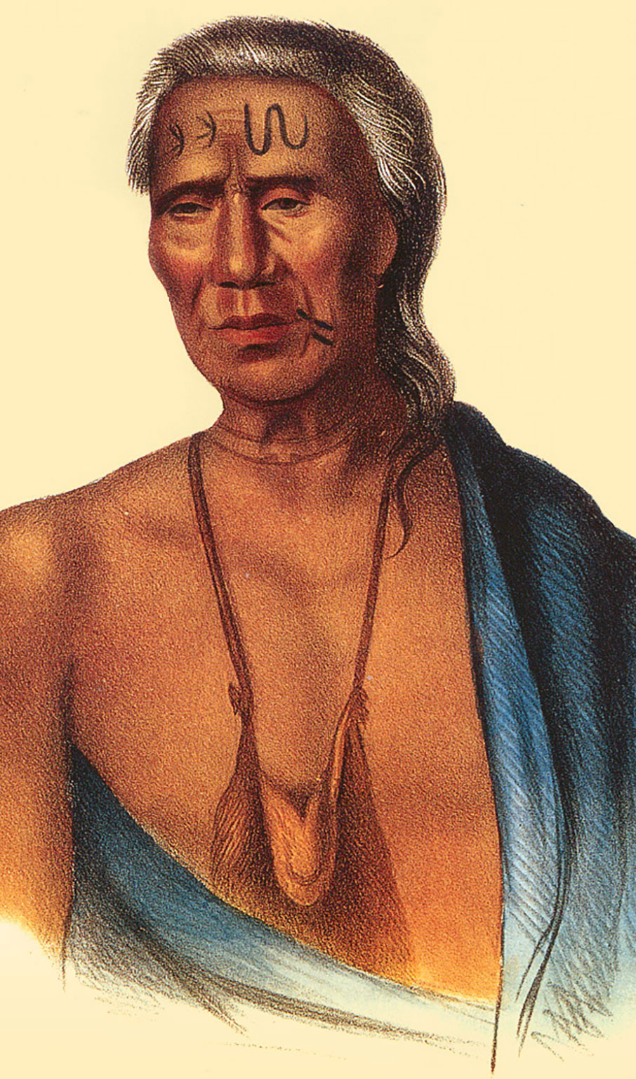 Lapowinsa, Chief of the Lenape, Lappawinsoe painted by Gustavus Hesselius in 1735.