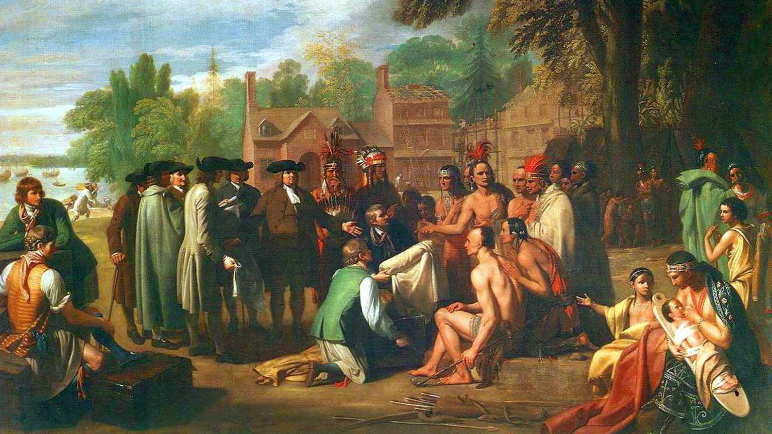 Benjamin West's painting (in 1771) of William Penn's 1682 treaty with the Lenape.
